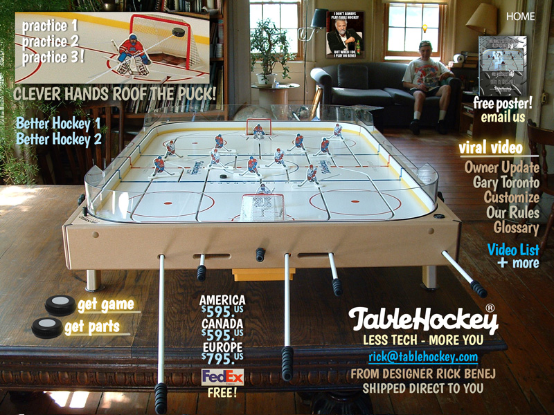 Table hockey game by Rick Benej photo by Sara Kelly
